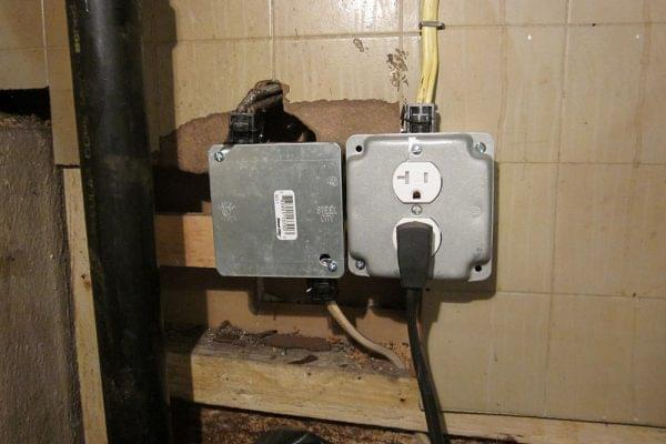 Basement Outlet & Splice After
